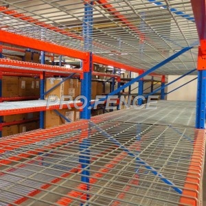 Wire decks for pallet racking system