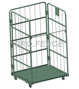 Heavy duty roll cage trolley for material transportation and storage(3 Sided)