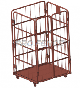 Heavy duty roll cage trolley for material transportation and storage (4 Sided)