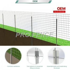 Galvanized welded wire fence for agriculture and industrial application