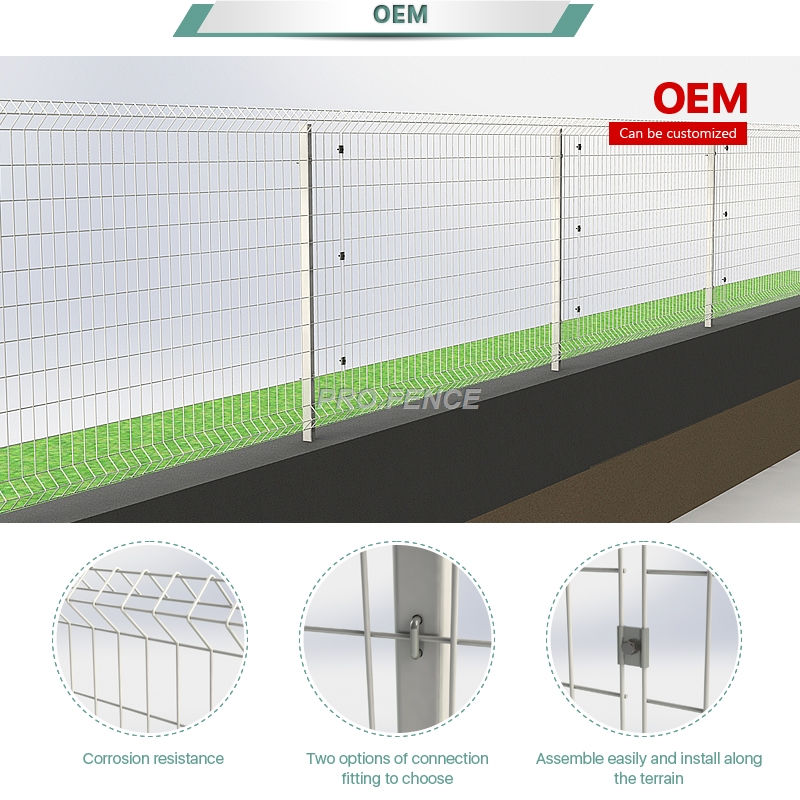 L-shaped welded wire mesh fence for architectural buildings Featured Image