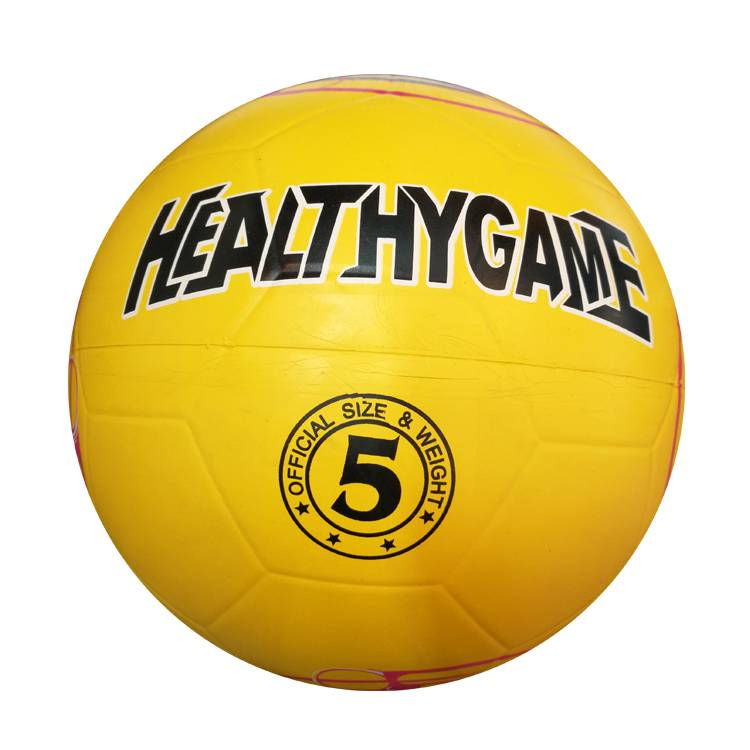 Custom printed logo smooth surface outdoor sports training match leather soccer ball