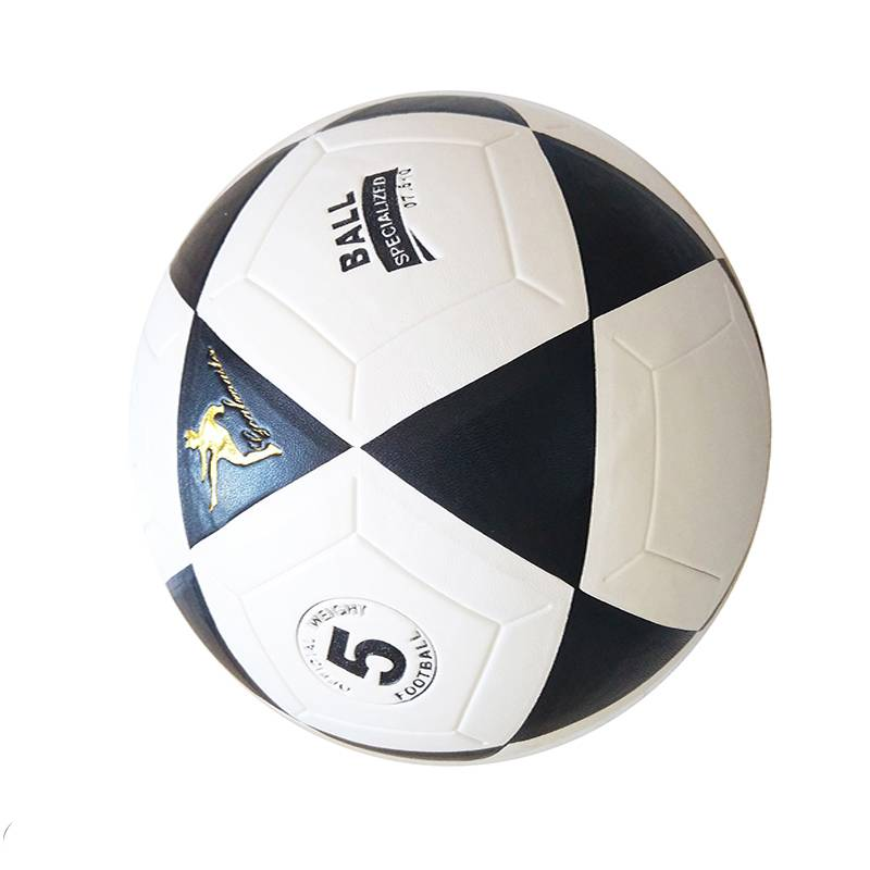 2020 supplier customized outdoor or indoor sports black leather football ball