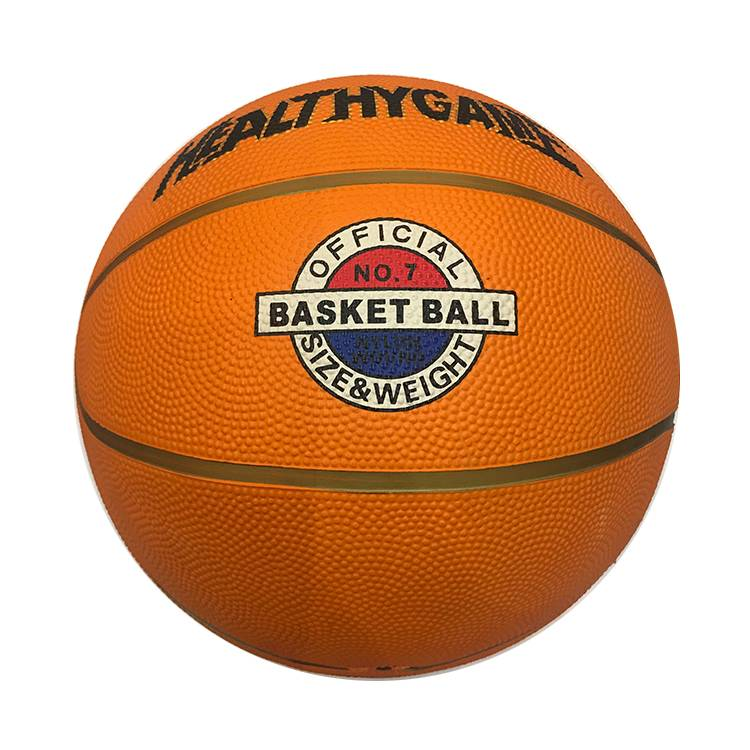 Customized Logo Inflatable Mini Toy Sport Balls Rubber Standard Basketball Size 3 5 6 7