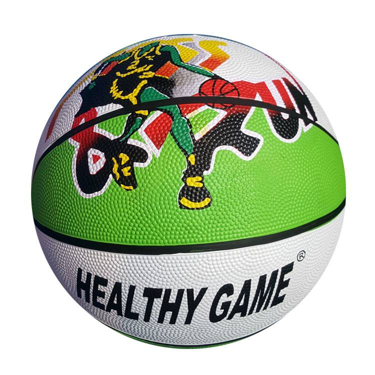 100% Original Size 6 Rubber Printed Basketball - Standard Rubber Basketball – Xinxiang