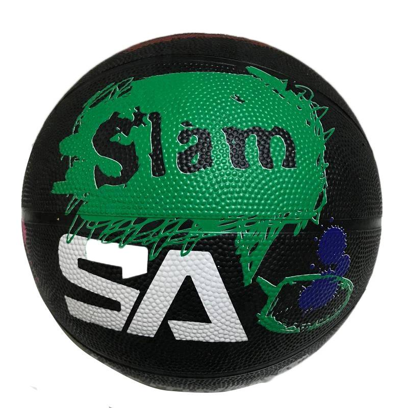 Manufacturer custom official size 5 outdoor sports rubber basketball