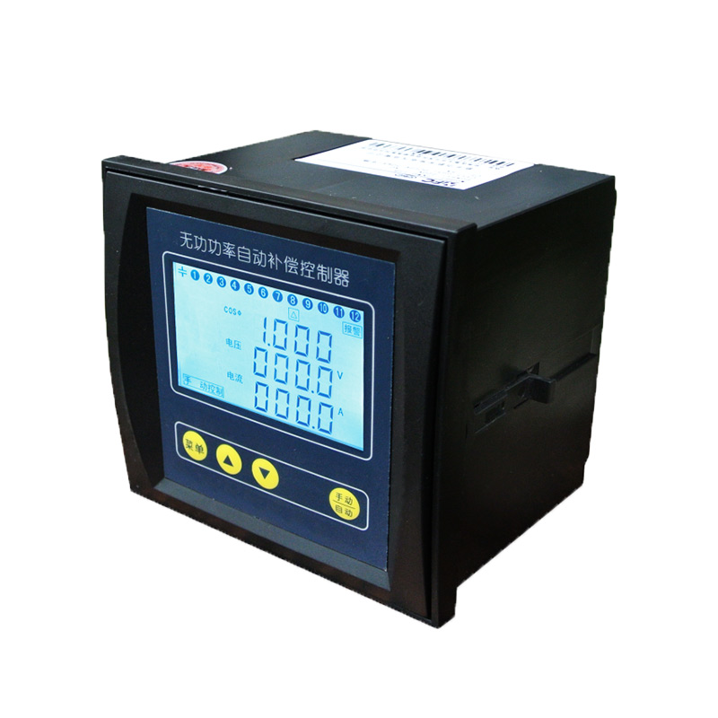 JKWD-12(A/B) Connect the composite switch Multiple control mode LCD Intelligent reactive power compensation controller Featured Image