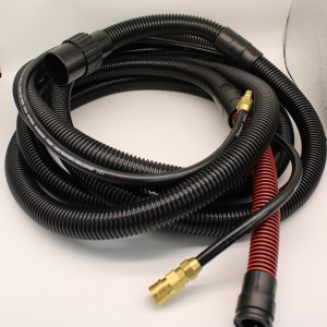 Coaxial dust collector soft hose for Sander