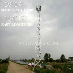 30m-3-legs tubular tower installation