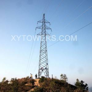 33kV double circuit transmission  line tower