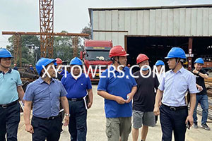 District chief team inspect factory