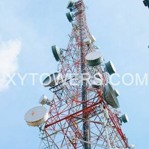 microwave tower/radio broadcasting Tv steel tower