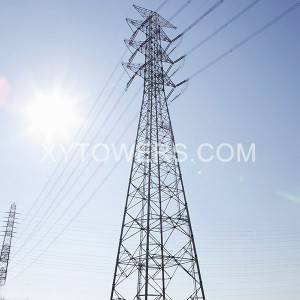 500kV double loop strain tower