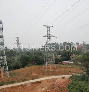 330kV double loop terminal tower