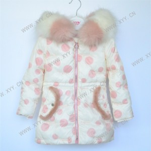 Girl's padded jacket (Long length pattern) FH20-056