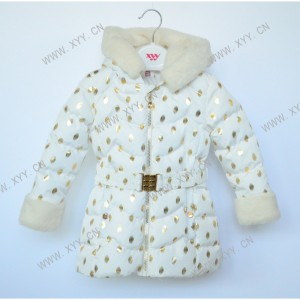 Girl's padded jacket (Long length pattern) FH20-047
