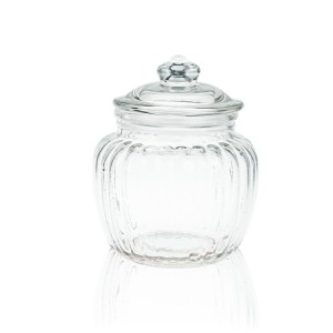 kitchen Transparent Glass pickle pot vertical seal tank Sealed Jars Lid storage jar