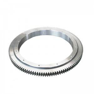 Single-row cross-roller slewing ring with external gear 111 series