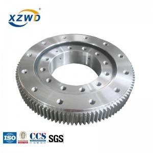 XZWD hot sale best price single row four point slewing ring for rotary equipment