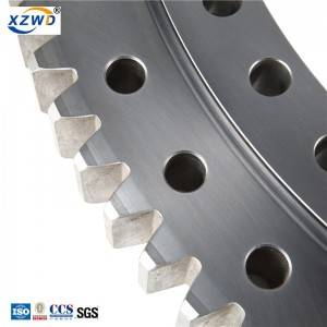 External gear single row ball four point contact 011 series slewing bearing
