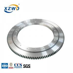 single row ball turntable slewing ring bearing with external gear