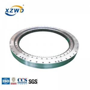 Internal gear double row different ball diameter slewing bearing 023.40.1250
