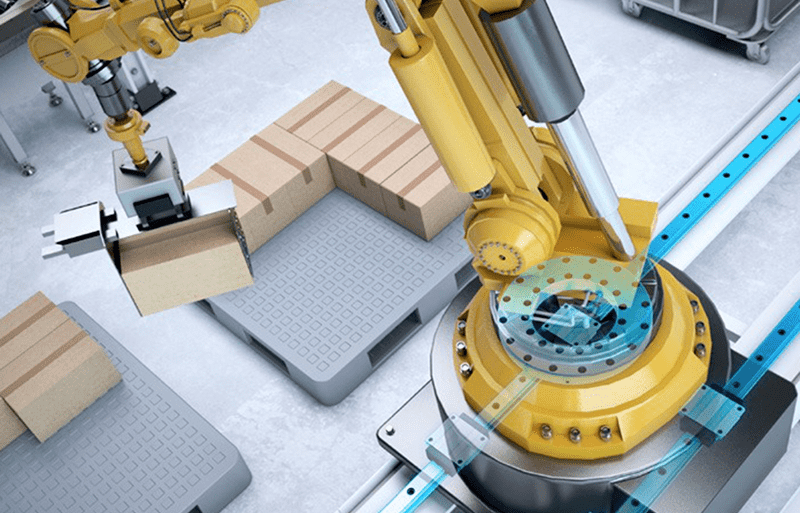 How modern industrial robots rotate?