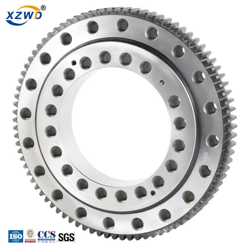 External gear single row ball four point contact 011 series slewing bearing Featured Image
