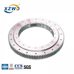 large diameter four point contact ball turntable bearing for robot