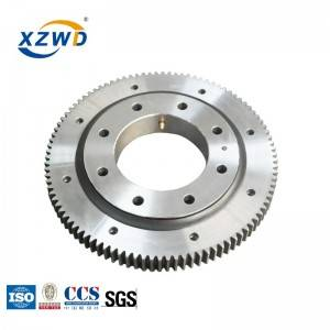 XZWD single row ball four point contact ball slewing bearing grease