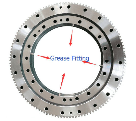 The effect of lubricating grease on slewing ring