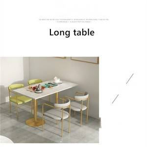 Light luxury marble dining table simple combination furniture 0354