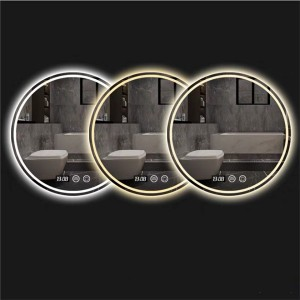 Round anti-fog mirror special-shaped smart light-emitting mirror 0646
