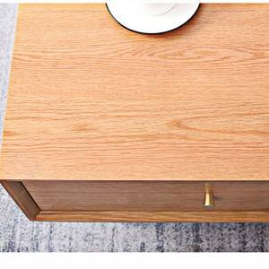Solid Wood Four-drawer Tea Table Living Room Furniture#Side Table 0001