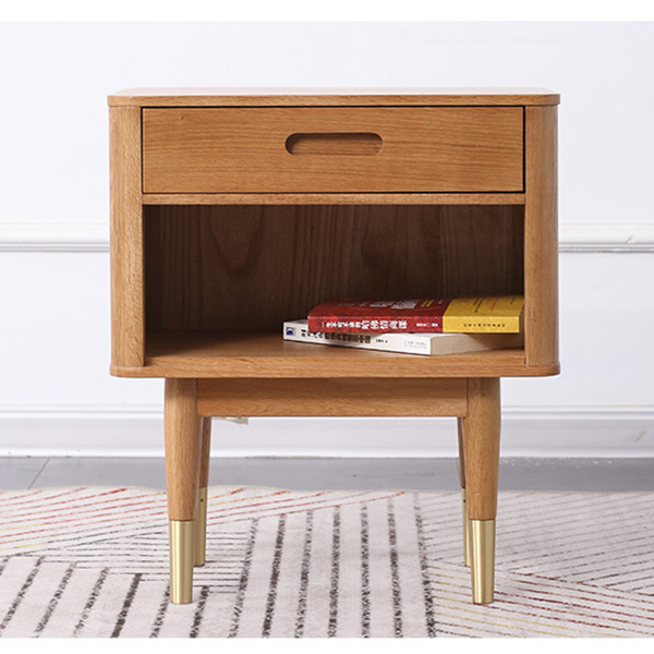 Simple single drawer bedroom nightstand side cabinet#0122 Featured Image