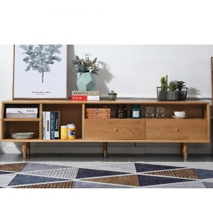 Fashion small apartment living room solid wood TV stand#0023