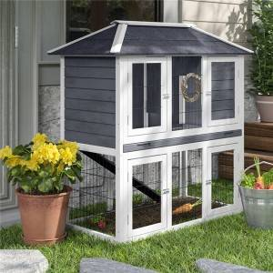 Englewood Duplex Rabbit Hutch With Door 0226