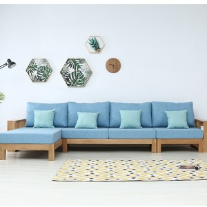 Modern Living Room Furniture Solid Wood Sofa Combination#0029