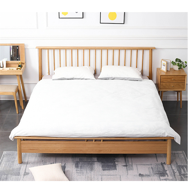 Simple Windsor Bed Solid Wood Bedroom Bed Princess Bed#0114 Featured Image