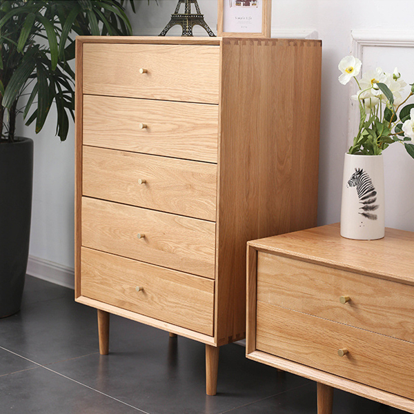 All Solid Wood Chest of Drawers Living Room Bedroom Nightstand#0103 Featured Image