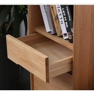 Simple Solid Wood High and Low Side Cabinet Storage Cabinet#0024