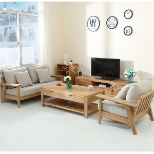 Living Room Solid Wood Disassembly Sofa#0026