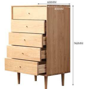 All Solid Wood Chest of Drawers Living Room Bedroom Nightstand#0103