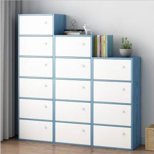 Bookcase simple modern free combination lattice cabinet storage storage cabinet large capacity simple landing small bookcase with door