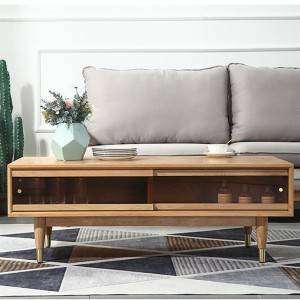 Modern Simple Oak Solid Wood Coffee Table Combination#Tea Table 0007