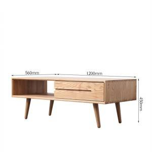 Simple Solid Wood Coffee Table Modern Style Combination Tea Table Furniture#SideTable 0002