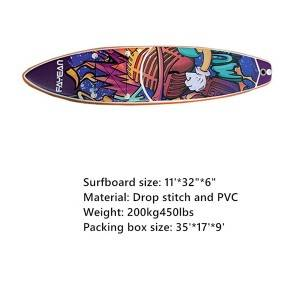 Inflatable Surfboard Sup Racing Yoga Paddle Board 0359