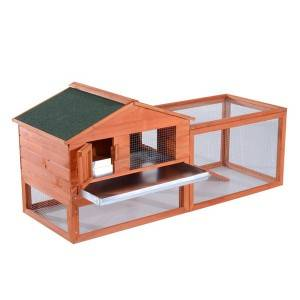 Heller Animal Hutch with Ramp Rabbit Hutch Pet Cage 0228