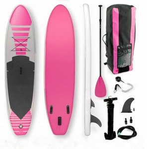 Inflatable water ski stand-up surfboard yoga board 0369