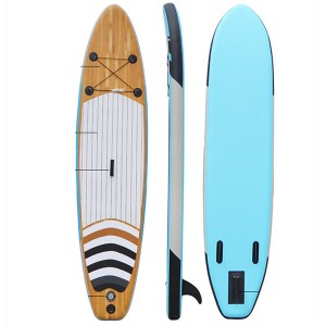 SUP paddle board color matching inflatable surfboard with fins 0372